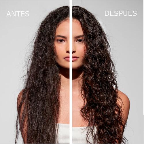 ANTES Y DESPUES DEL METODO CURLY KERASTASE